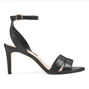 Nine West Incheck ankle strap sandals, black, 6.5M